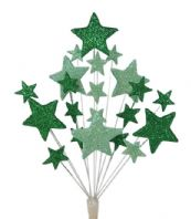 Christening cake topper decoration in shades of green - free postage